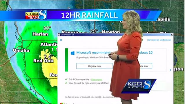 Atualizações automáticas do Windows 10 interrompe boletim meteorológico ao vivo