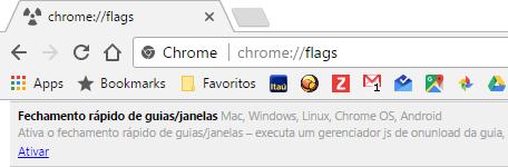 Google Chrome - Fechamento rápido de Janelas