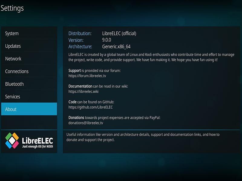 LibreELEC: Para servidor de mídia