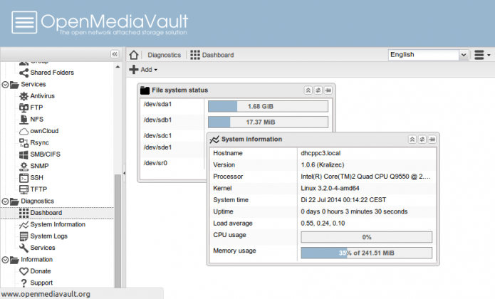 OpenMediaVault: For Network Attached Storage (NAS)