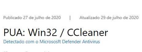 CCleaner é bloqueado pela Microsoft para uso no Windows