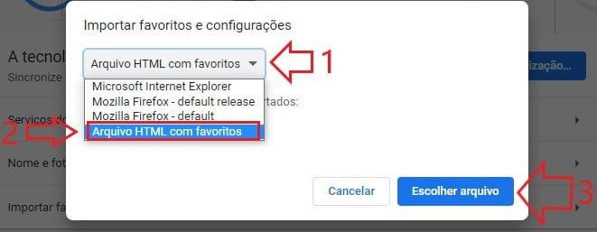 Como recuperar favoritos deletados do Google Chrome