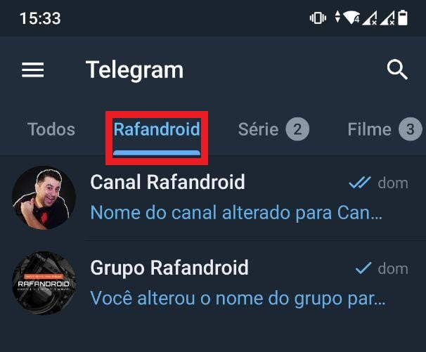 Telegram: Como organizar chats, grupos e canais em pastas