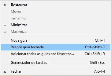 Como restaurar as guias do Google Chrome