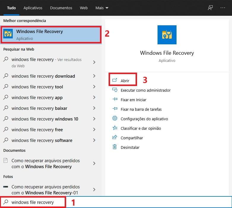 Como recuperar arquivos perdidos com o Windows File Recovery