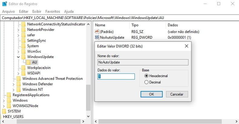 Como desativar o Windows Update